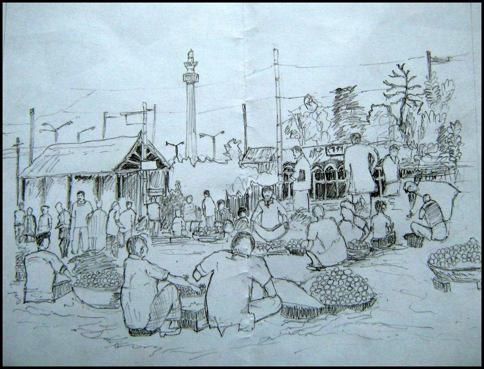Market place sketch